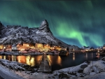 Northern Lights on Lofotes Islands, Norway