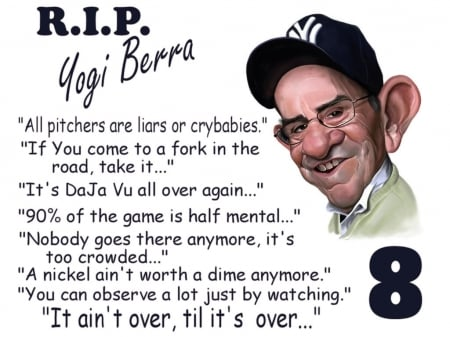 Yogi Berra - new york, yogi berra, yankees, famous, legend, sports