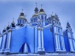 freezing at st. michaels orthodox church hdr