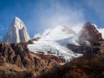 ice covered mountain peak