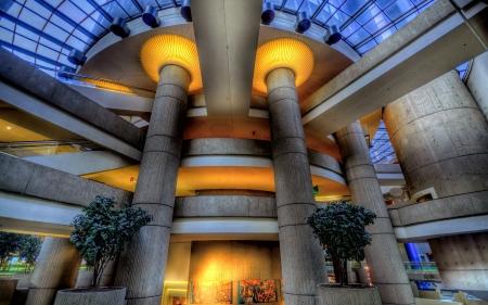 General Motors Renaissance Lobby Center Detroit Hdr Modern Images, Photos, Reviews