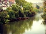 lovely riverside town in germany
