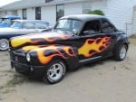 Flames on Hot Rod
