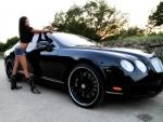 Briana With Her Bentley
