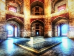 humayuns tomb in delhi india hdr