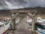 icelandic commercial boat docks hdr