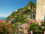 cliffside coastal town in italy