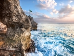 marvelous rocky seashore in negril jamaica hdr