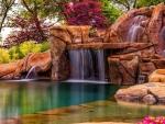 Beautiful Flower Gardens  Waterfalls