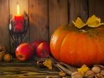 Walnuts and Pumpkin Light