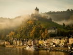 Morning Mist At Imperial Castle Cochem, Germany