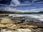 kimmeridge bay in the english channel hdr