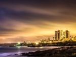 la jolla california seashore at night hdr