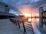 imperial war museum in london at sunset hdr