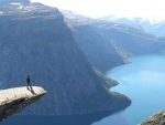 spectacular view of a fjord in norway
