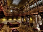 old school library hdr
