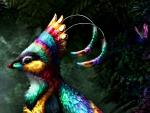 Rainbow gryphette