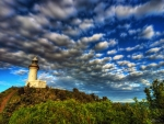 clouds over lighthouse on cape byron s. wales hdr