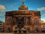 city square in liverpool hdr