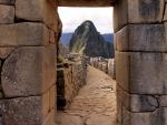 doorway in a wall in machu picchu peru