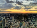 aerial panorama of malaysia hdr