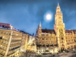 marienplatz in munich hdr