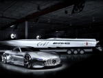mercedes amg vision and a cigarette racing boat