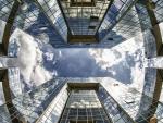 mirrored skyscrapers