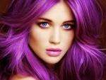 Vibrant Hair Color Streaks