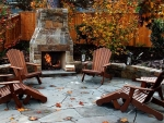Autumn patio