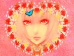 ANGEL EYES Heart Flowers Kaleidoscope