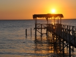 Sunset Over The Jetty