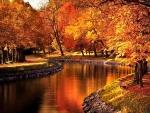 Autumn River  Stockholm, Sweden