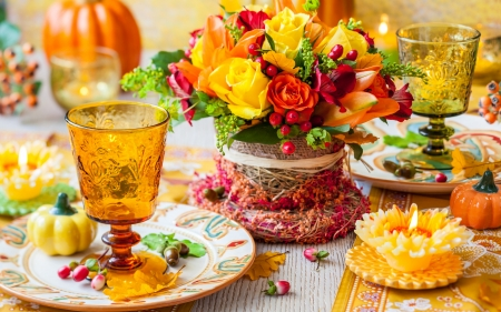 Thanksgiving dinner photography abstract background for Idee deco table automne