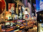 new york city times square traffic hdr