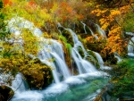 Autumn water cascades