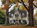 Vacations House in a Fall Season