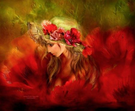 Woman in the Poppy Hat