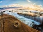 ocean flow in fisheye hdr