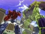 Optimus vs Devastator