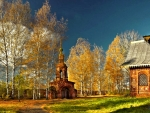 Temple in Autumn
