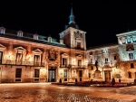 courtyard at night hdr