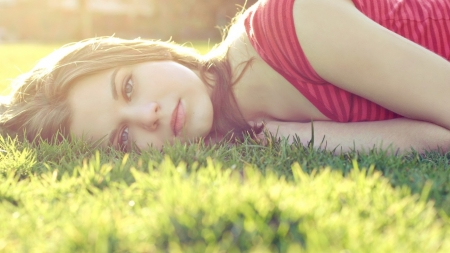 *dreamer* - hair, look, girl, grass, eyes