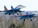 Two Russian Sukhoi Su27 Fighter Jets