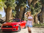 Cowgirl Katie Banks and her Mustang