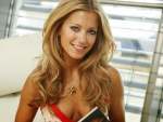 Sylvie van der Vaart with a nice smile