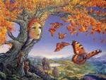 The autunm tree