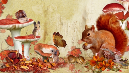 fall squirrel and mice rodents amp animals background