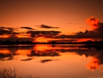 Reflection Autumn Sunset