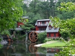 Beautiful Red Watermill